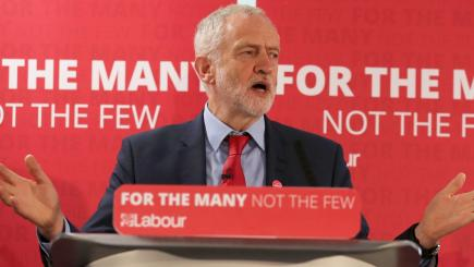 Jeremy Corbyn rejects 'red Tory' description of Theresa May