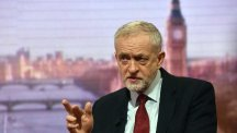 Labour Party leader Jeremy Corbyn appears on the BBC One current affairs programme The Andrew Marr Show (BBC/PA)