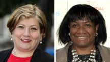 Emily Thornberry, left, and Diane Abbott, have been promoted to shadow foreign secretary and shadow health secretary respectively