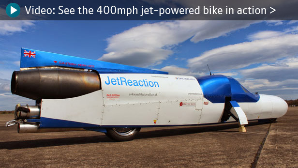 Video: See the 400mph jet-powered bike in action