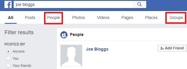 Joe Bloggs search