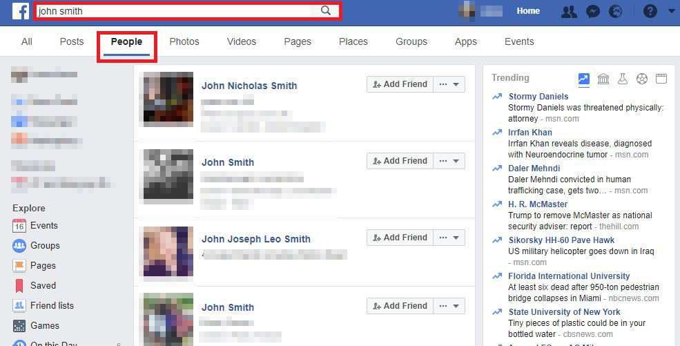 How to search friends on facebook by photo