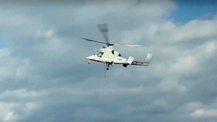 Pilotless helicopter and drone unite to fight fires
