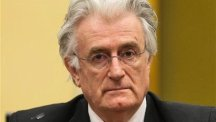 Former Bosnian Serb leader Radovan Karadzic in the courtroom of the war crimes tribunal in The Hague, Netherlands (AP)
