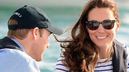 Kate and William in Auckland