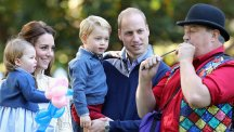 Kate and William with Charlotte and George