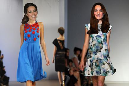 Kate in Collette Dinnigan and Rebecca Taylor