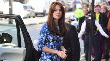 Kate Middleton looked stunning in a speckled blue dress as she attended an animation masterclass