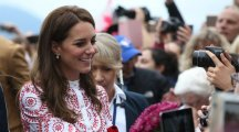 Kate's bold patterned dress honours Canadian colours