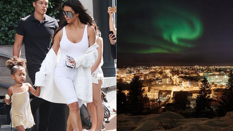Kim Kardashian and North West, Northern Lights