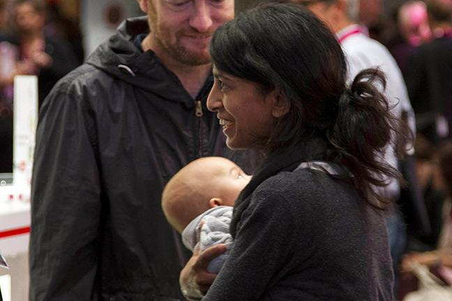 Konnie Huq With Baby Covey