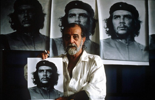 Alberto Korda and his iconic photograph of Che Guevara.