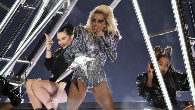 Lady Gaga avoids politics in patriotic Super Bowl