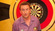 Lee Mack takes part in Let's Play Darts for Comic Relief