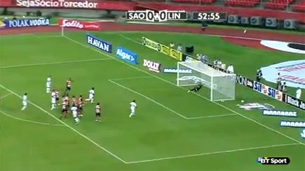 Legendary Brazilian keeper nets super free-kick