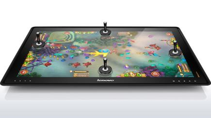 Lenovo Horizon being used as game table