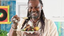 Levi Roots' Jamaican jerk chicken with rice and beans salad