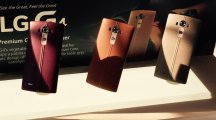 LG's latest smartphone innovation: a 'fashionable' leather rear cover