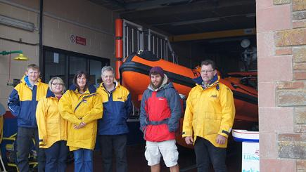 Lifeboat fundraiser celebrates first year of long costal walk