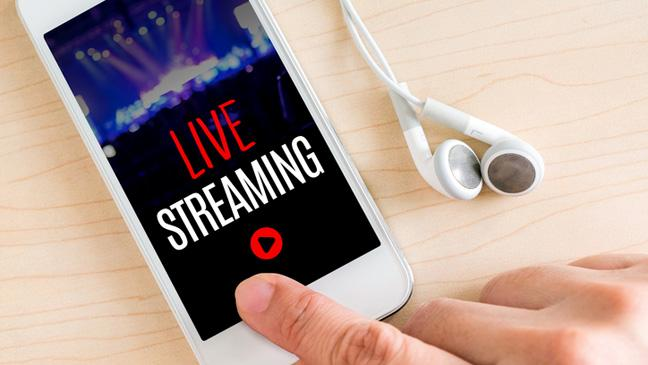 Livestreaming online what is it the advantages and the dangers phone with live streaming written on it stopboris Image collections