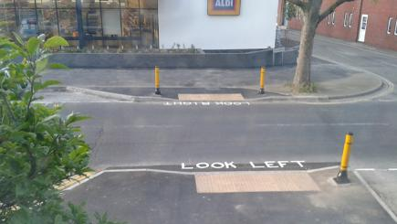 instructions for crossing the road