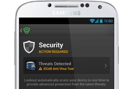 Security threat detected on smartphone