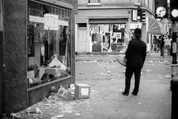 Windows were smashed and shops looted across the area.