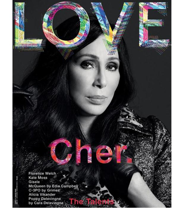 Cher on the cover of LOVE magazine