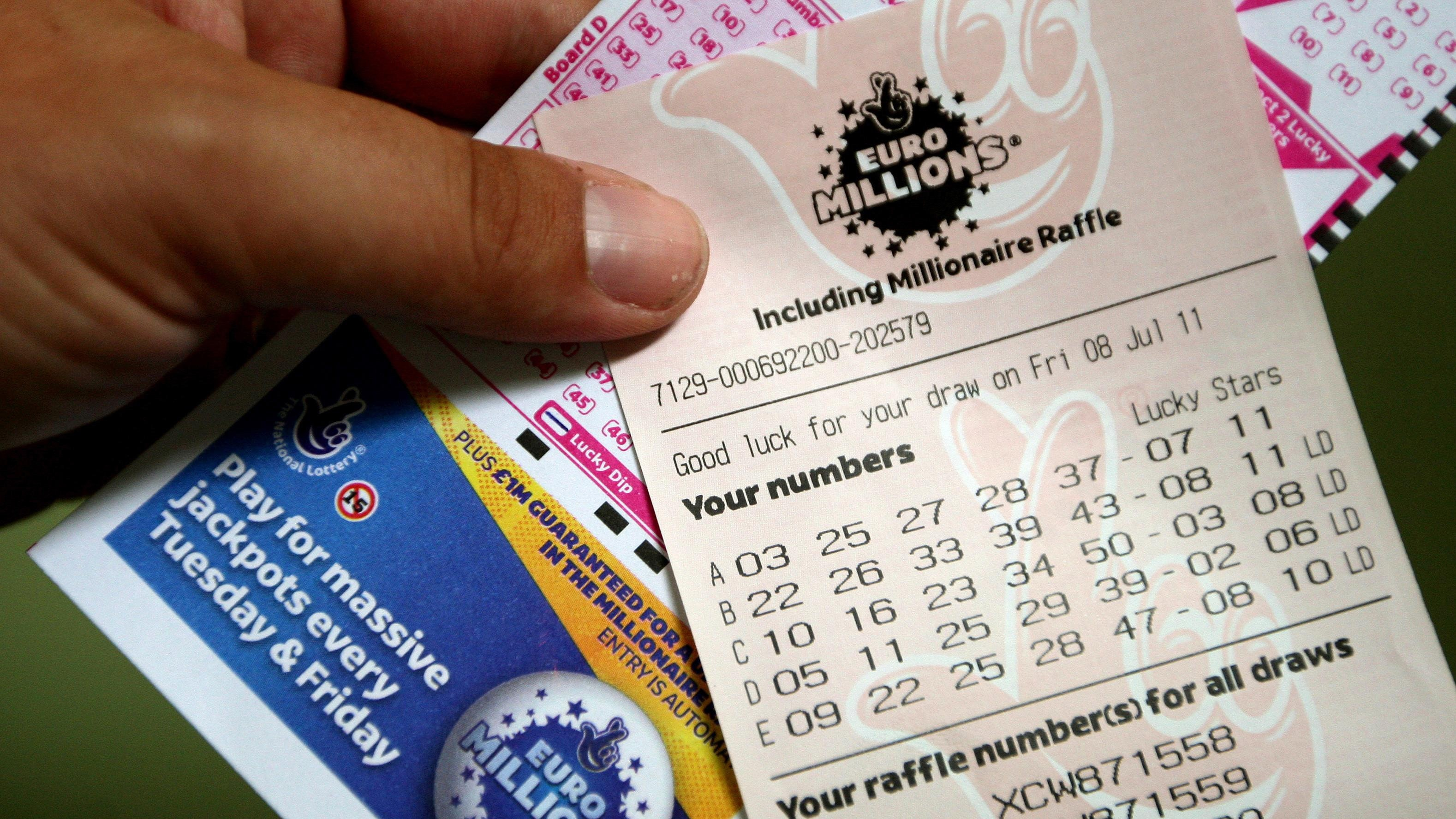 EuroMillions ticket worth €175 million sold in Ireland