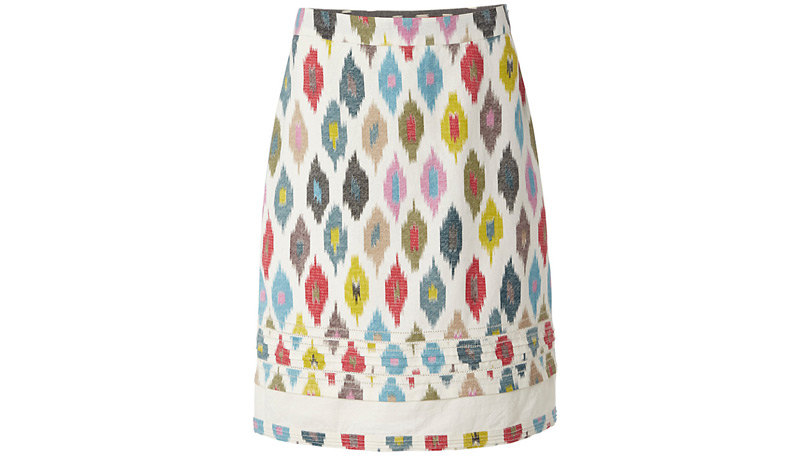 A Line Patterned Skirt
