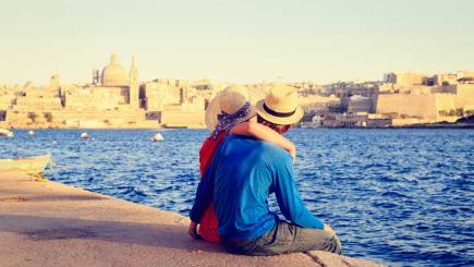 Young couple on holiday in Malta