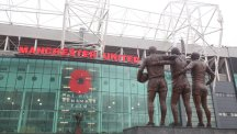 Manchester United football ground exterior