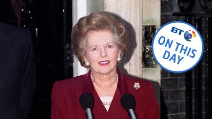 Margaret Thatcher falls from power