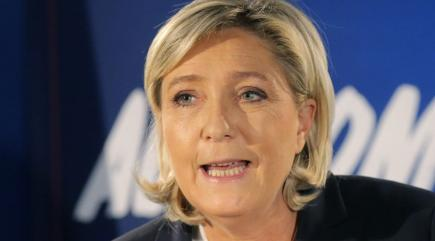 French Far Right Leader Le Pen Seen at Trump Tower