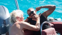 Sir Richard Branson and former president of the United States Barack Obama who learnt to kitesurf on the British Virgin Islands