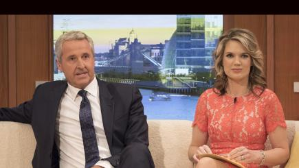Mark Austin and Charlotte Hawkins on Good Morning Britain