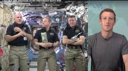 Mark Zuckerberg used Facebook Live to speak to the International Space Station and they discussed ice cream