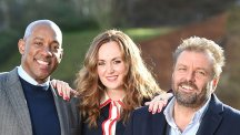 Homes Under The Hammer presenters Dion Dublin, Martel Maxwell and Martin Roberts