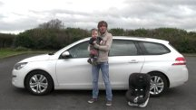 BT's Matt Kimberley and nephew George with car seat