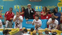 Matt Stonie upsets Joey Chestnut to win the annual July Fourth hot dog eating contest