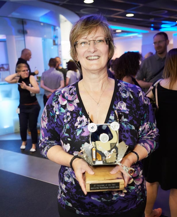 Maureen Johnston with Tech4Good award