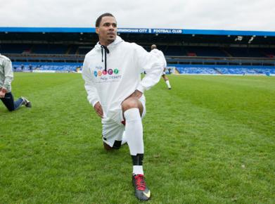 "So Solid Crew's MC Harvey at the ""Help Harry Help Others"" Charity Match at Birmingham City Football Club."