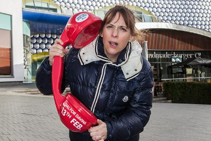 Mel Giedroyc supporting Dial for Davina Day