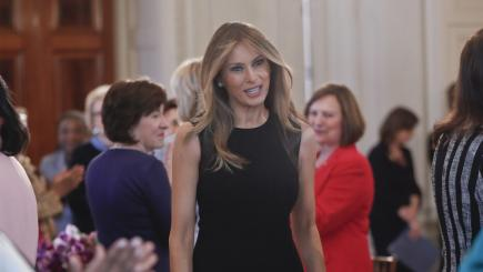 white house melania trump begins embrace role first lady