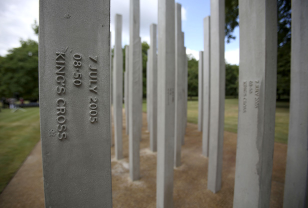The July 7 memorial in London's Hyde Park.