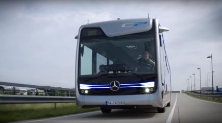 Mercedes has built a driverless bus, and it's already driven through Amsterdam