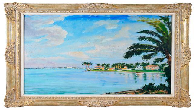 Sir Winston Churchill Miami Beach Painting Sells For K BT - Painting miami