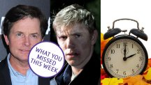 Michael J Fox, Ryan Hawley and an alarm clock