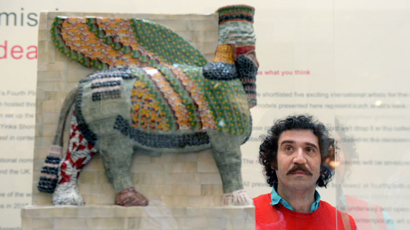 Ancient Iraqi statue remade on fourth plinth after destruction by Isis