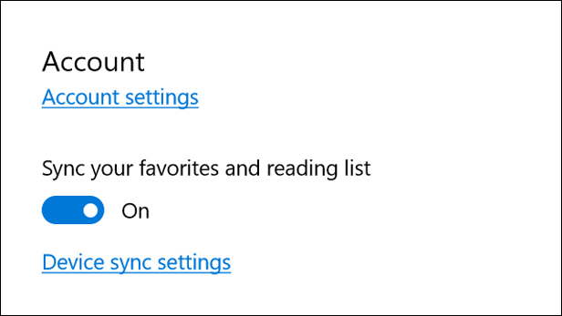 Microsoft Edge's Reading List